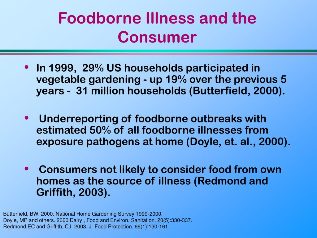 Foodborne Illness and the Consumer
