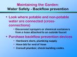 maintaining the garden water safety backflow prevention