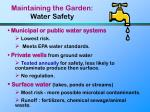 maintaining the garden water safety60