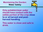 maintaining the garden water safety61