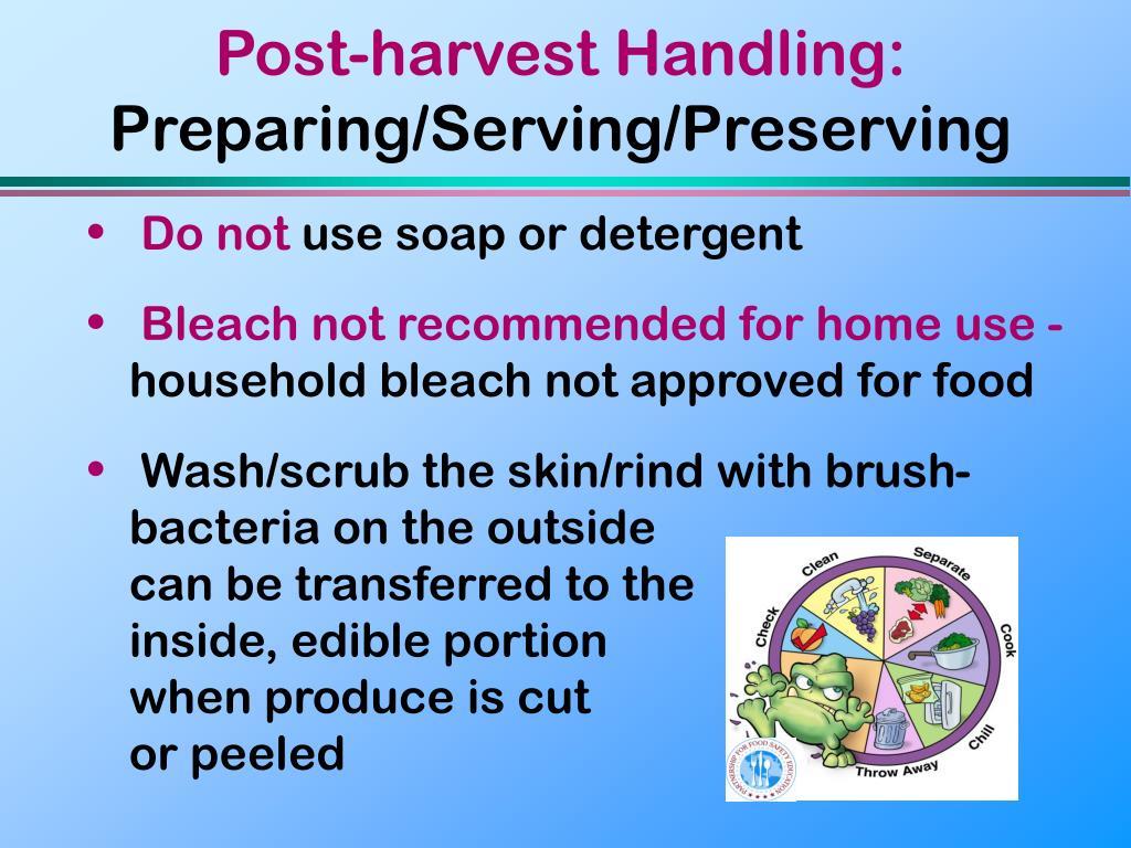Post-harvest Handling: