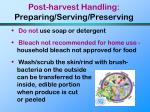post harvest handling preparing serving preserving77