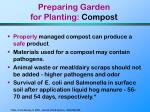 preparing garden for planting compost