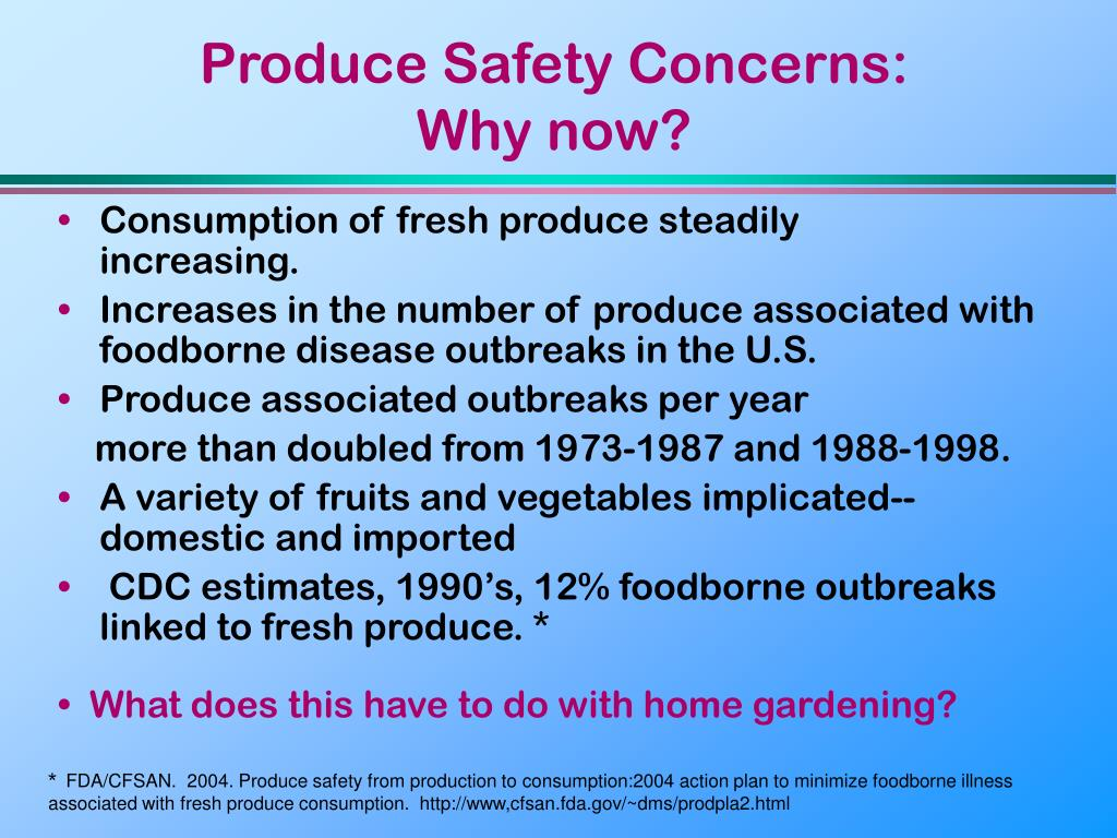 Produce Safety Concerns:
