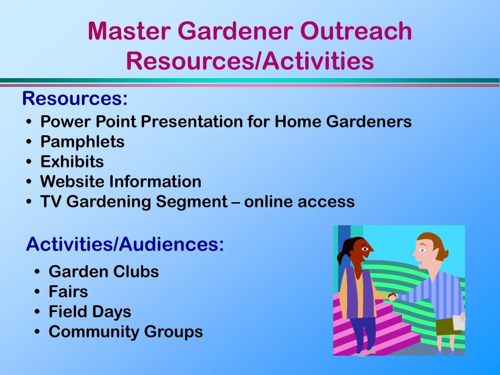 Master Gardener Outreach Resources/Activities
