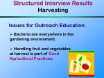 structured interview results harvesting26