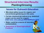 structured interview results planting growing24