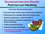 structured interview results post harvest handling28