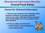 structured interviews results overall food safety19