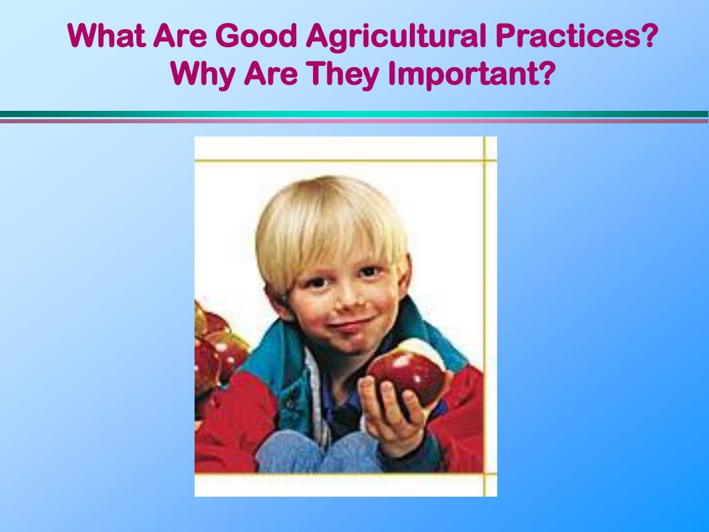 What Are Good Agricultural Practices?