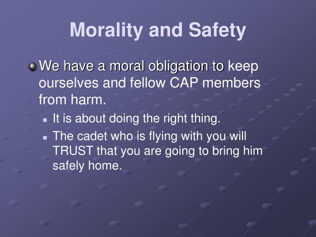 Morality and Safety