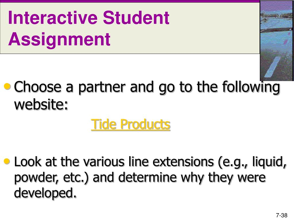 Interactive Student Assignment