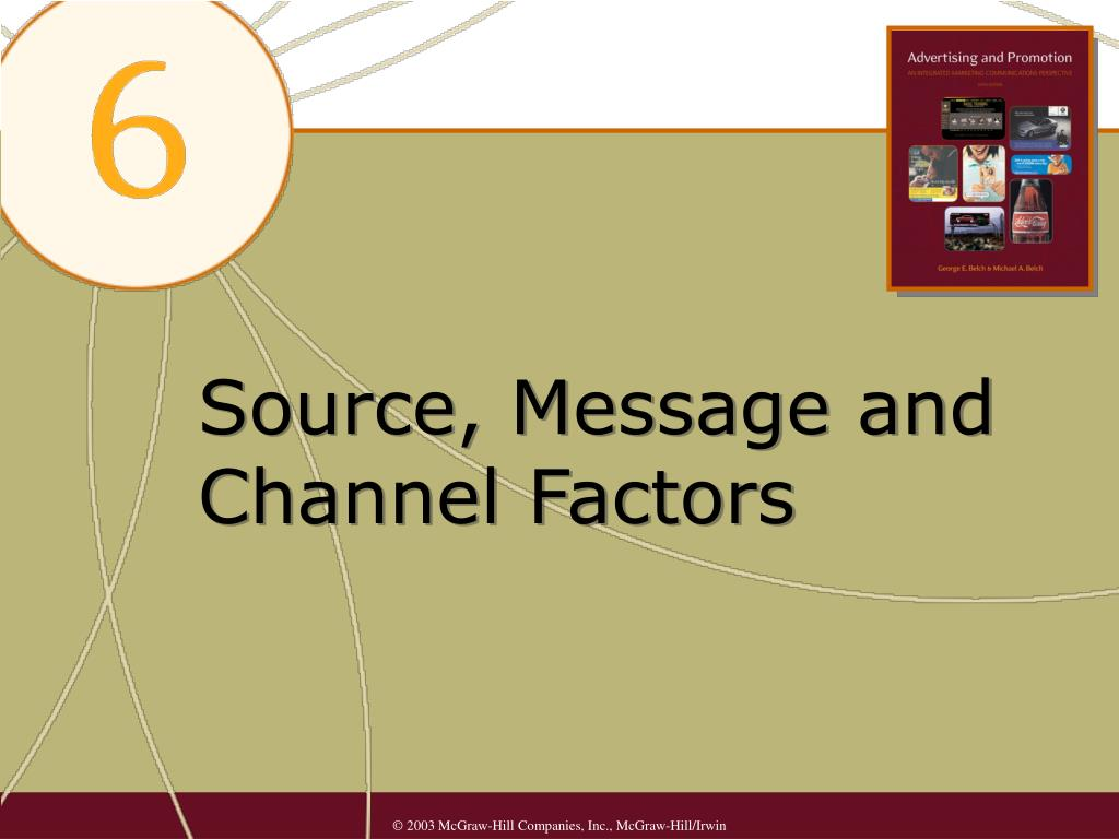 source message and channel factors l.