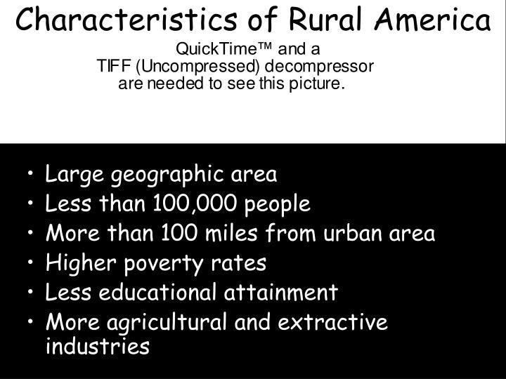 Characteristics of rural america