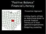 positive balance financial literacy