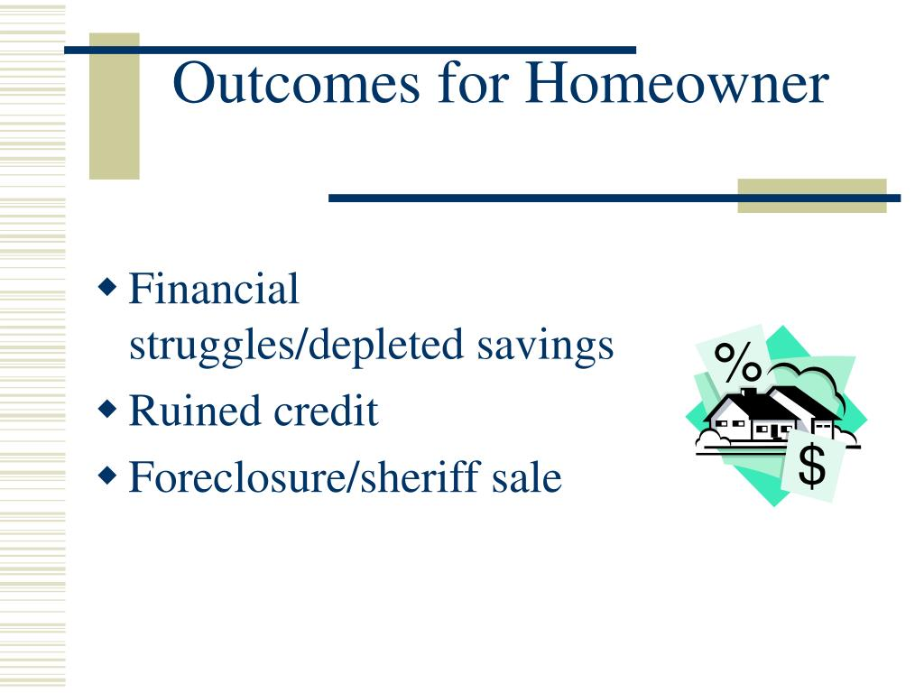 Outcomes for Homeowner