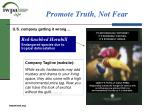 promote truth not fear