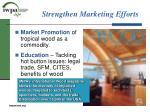 strengthen marketing efforts