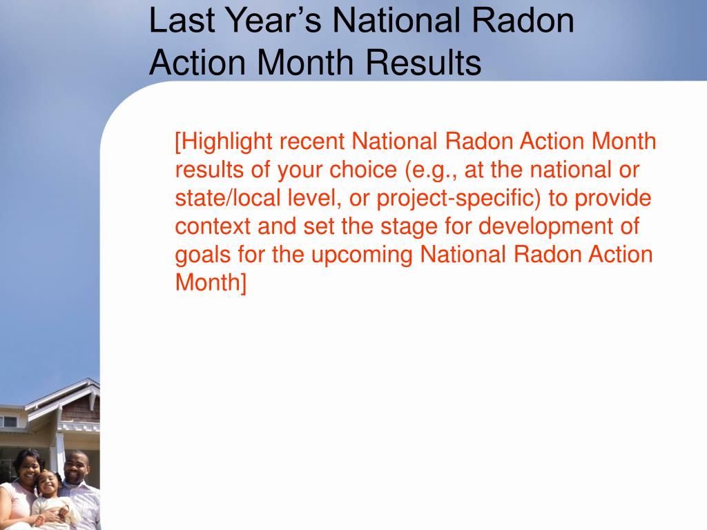 Last Year's National Radon Action Month Results