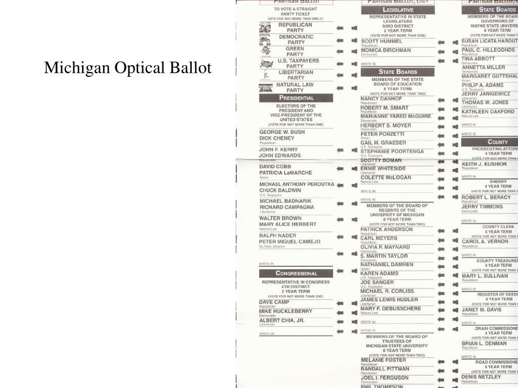 Michigan Optical Ballot