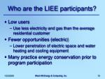 who are the liee participants