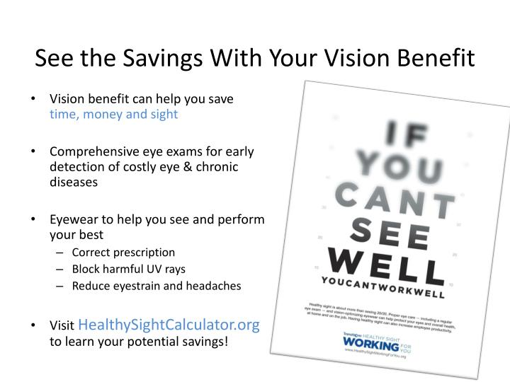 see the savings with your vision benefit n.
