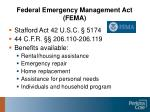 federal emergency management act fema