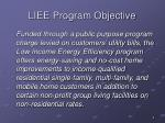 liee program objective