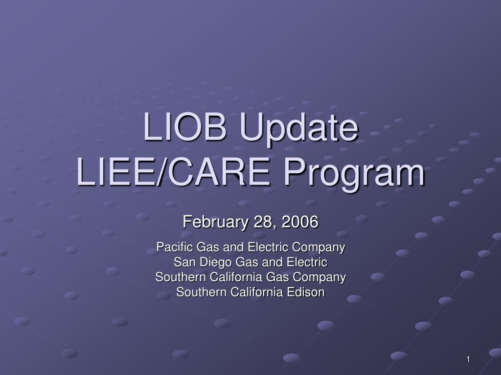 liob update liee care program l.