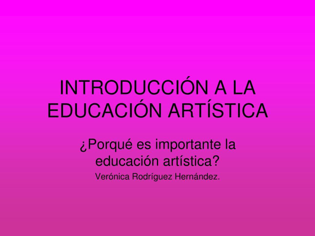 introducci n a la educaci n art stica