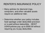renter s insurance policy