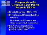 components to the computer based patient record in kpnw