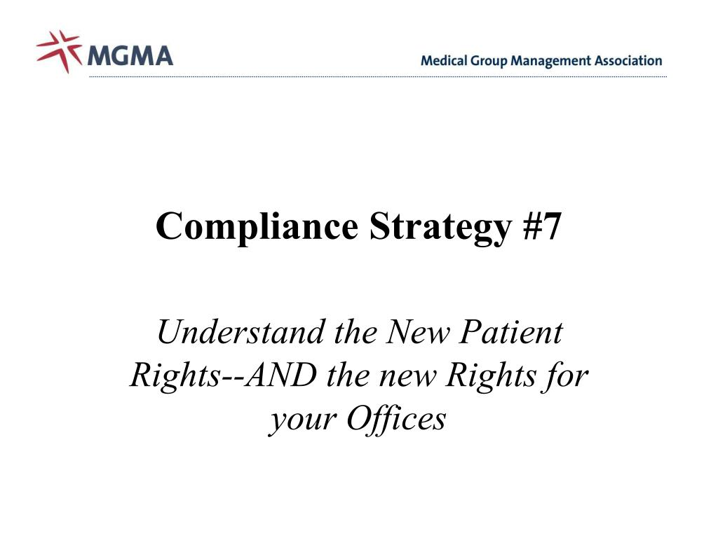 Compliance Strategy #7