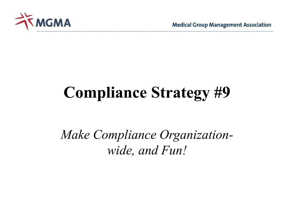 Compliance Strategy #9