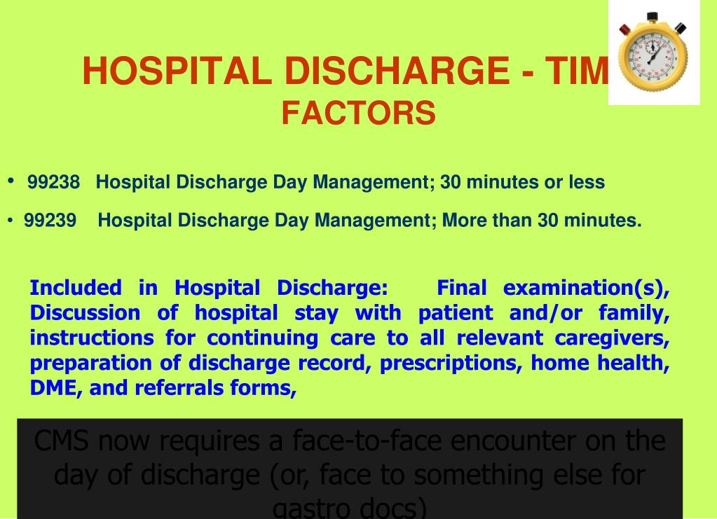 HOSPITAL DISCHARGE - TIME