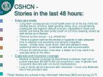 cshcn stories in the last 48 hours20