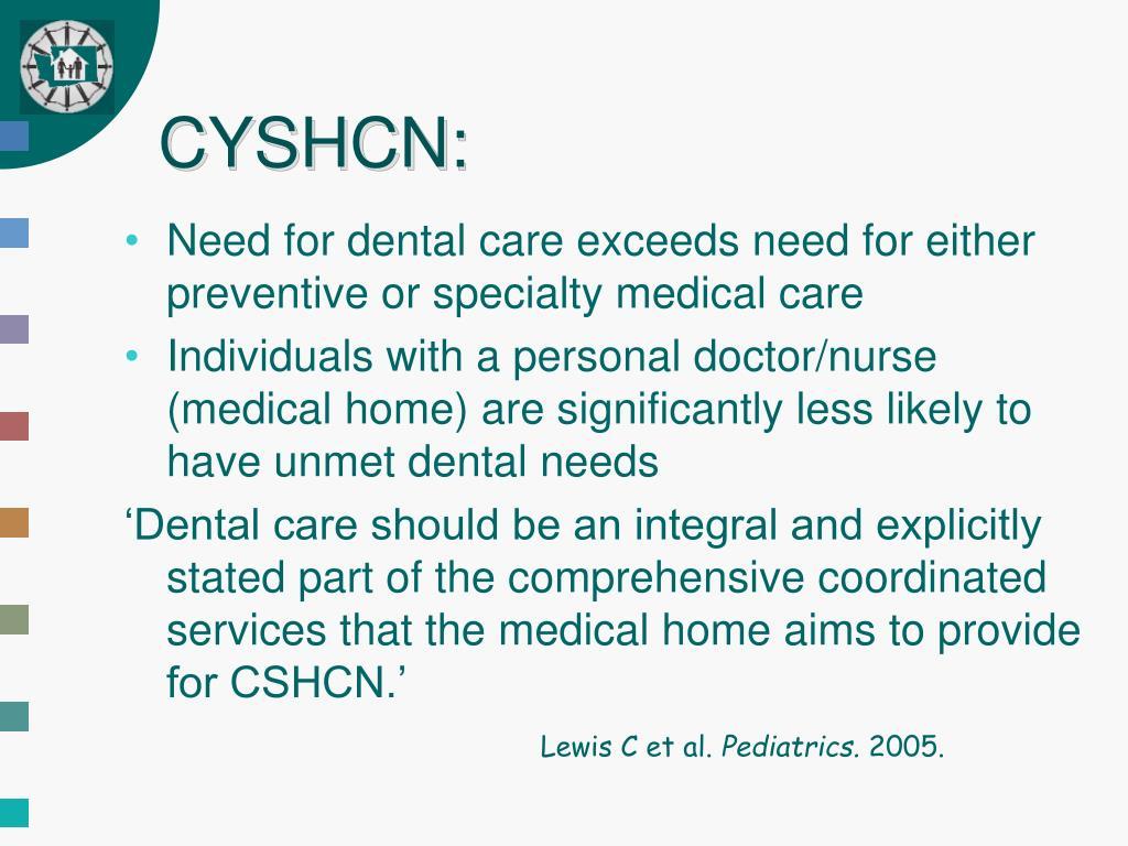 CYSHCN: