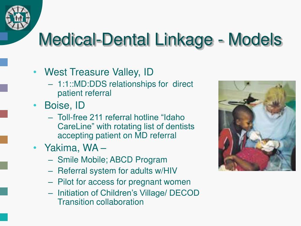 Medical-Dental Linkage - Models