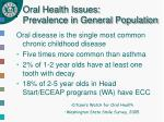 oral health issues prevalence in general population