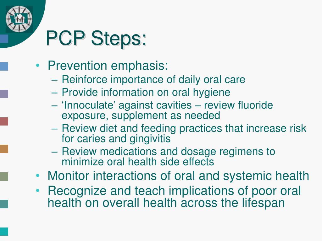PCP Steps: