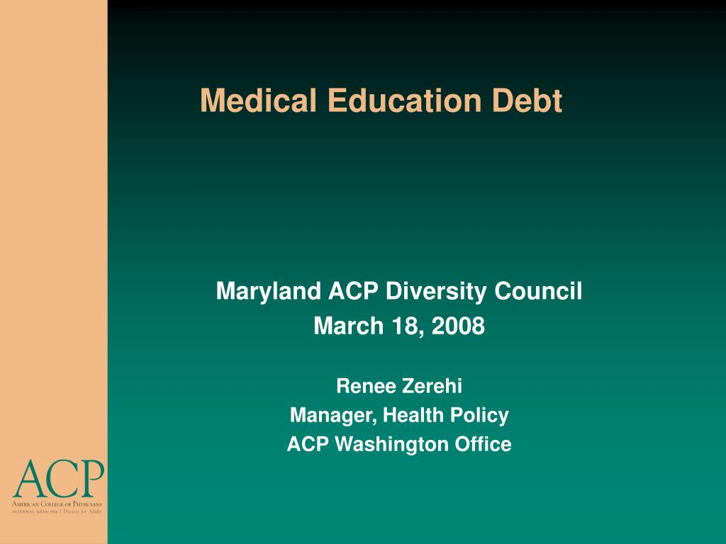 medical education debt l.