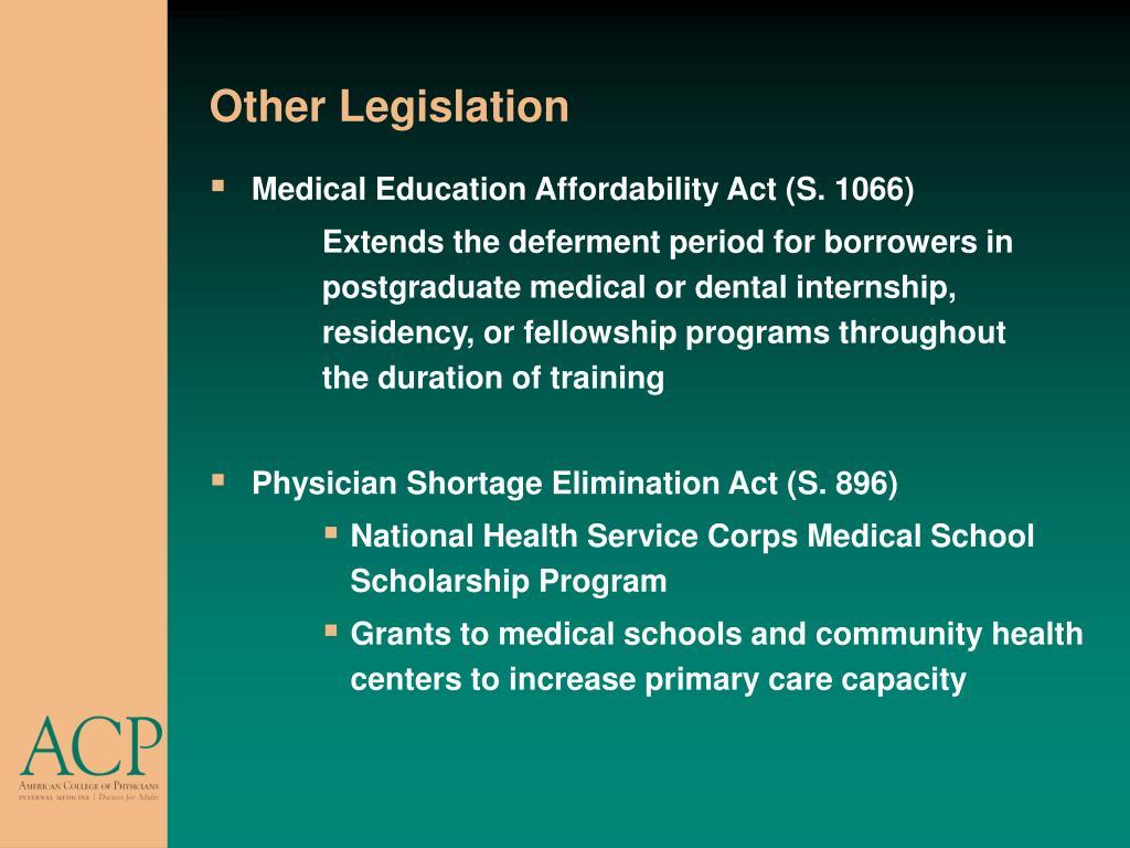Other Legislation