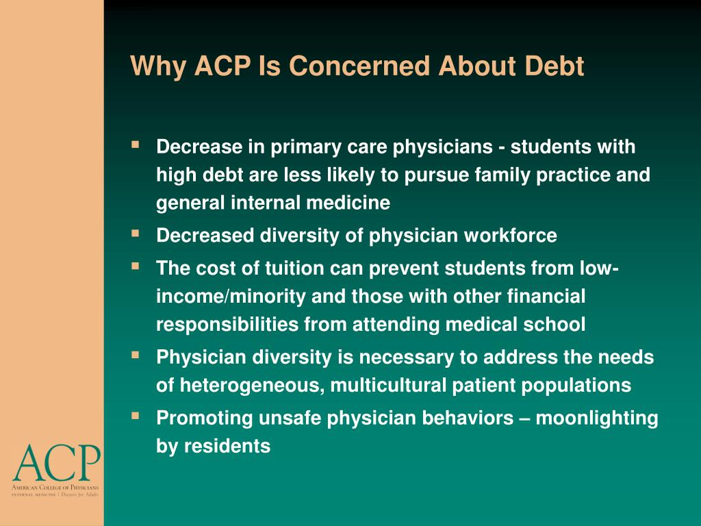 Why ACP Is Concerned About Debt