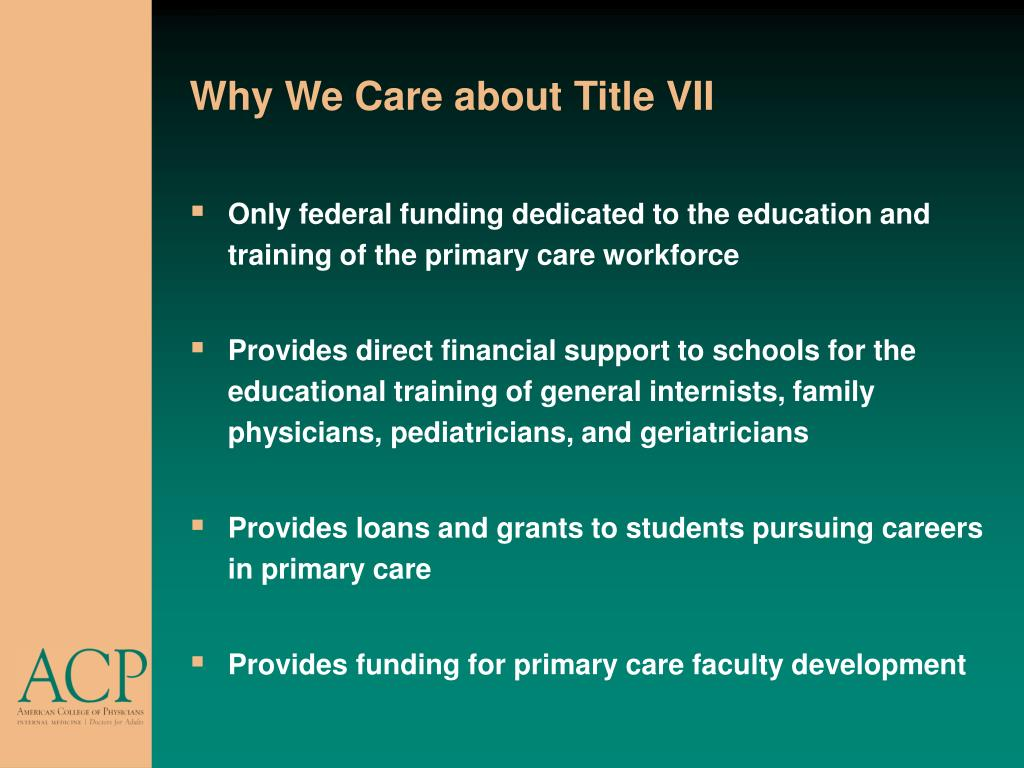 Why We Care about Title VII