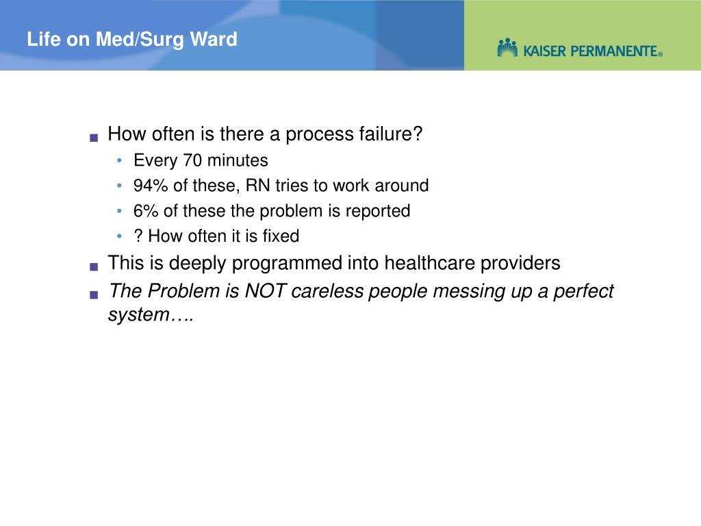 Life on Med/Surg Ward