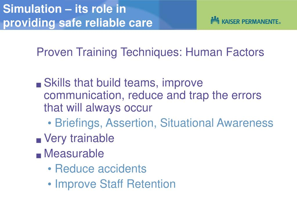 Simulation – its role in