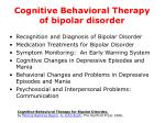 cognitive behavioral therapy of bipolar disorder