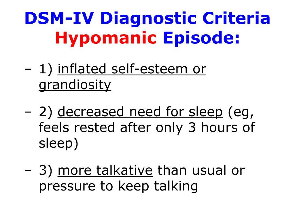 DSM-IV Diagnostic Criteria