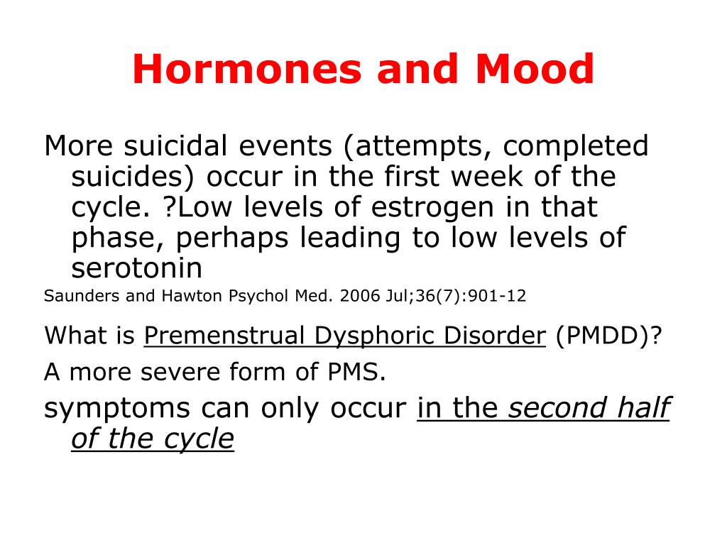 Hormones and Mood