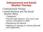 interpersonal and social rhythm therapy